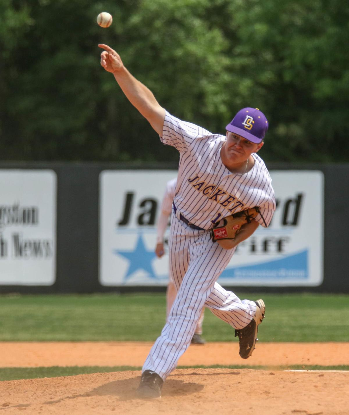 Live Oak vs Denham Springs Baseball: Dalton Diez