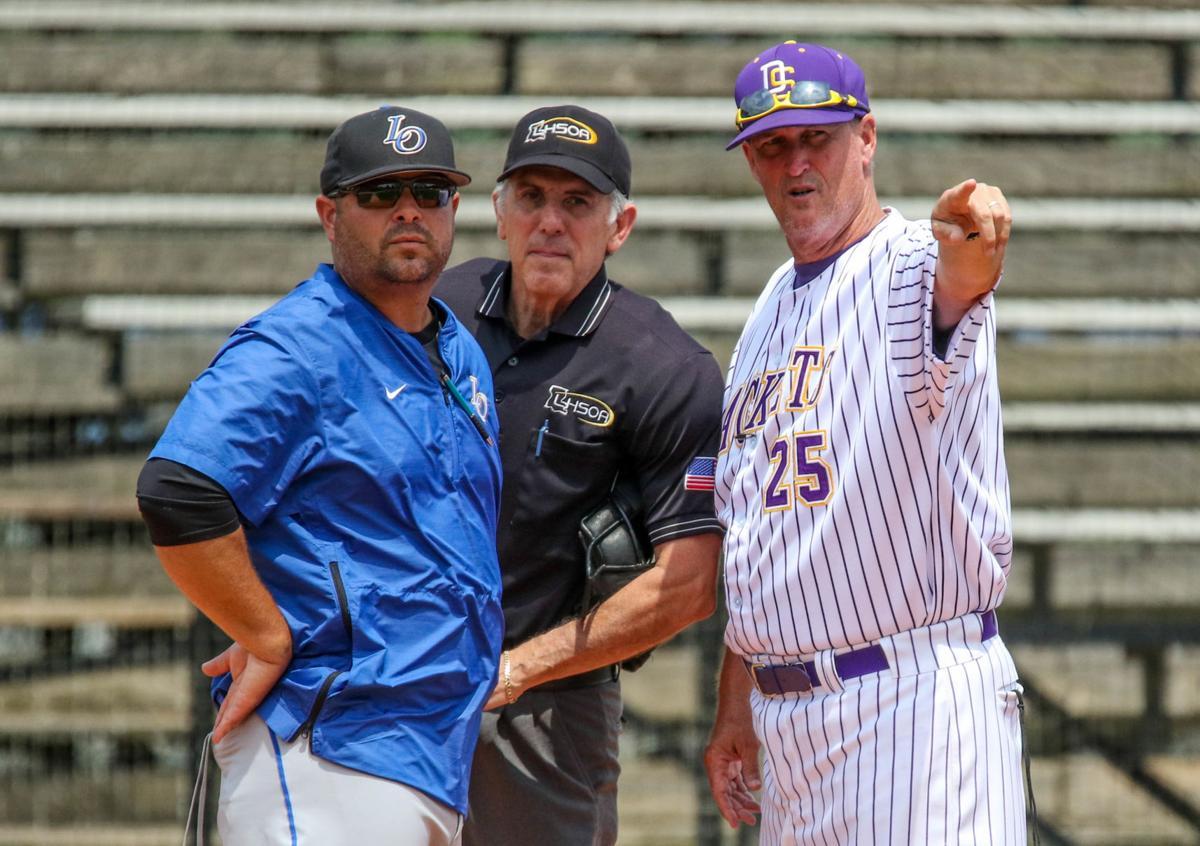 Live Oak vs Denham Springs Baseball: Mark Carroll, Jesse Cassard
