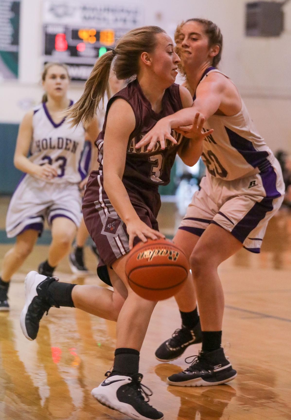 Albany vs. Holden girls basketball Camryn Woods Emma Hutchinson
