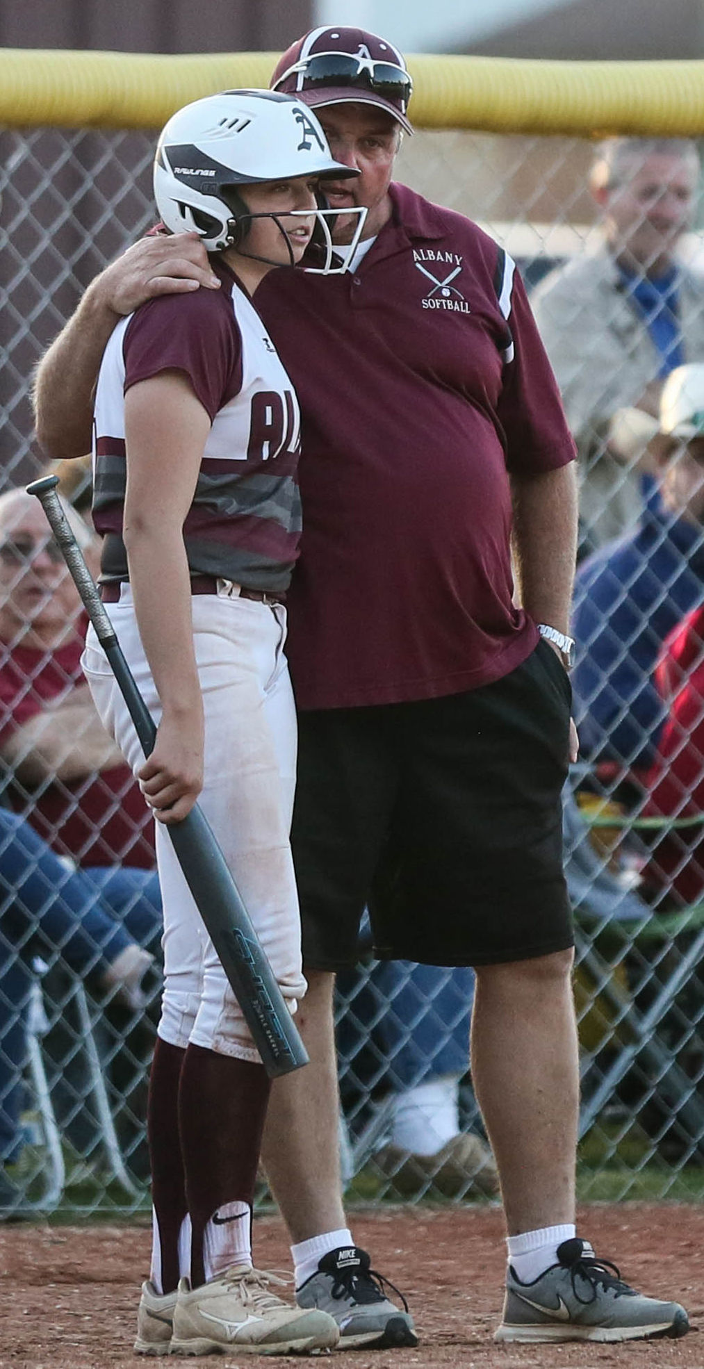 Marksville-Albany softball David Knight Madison Knight