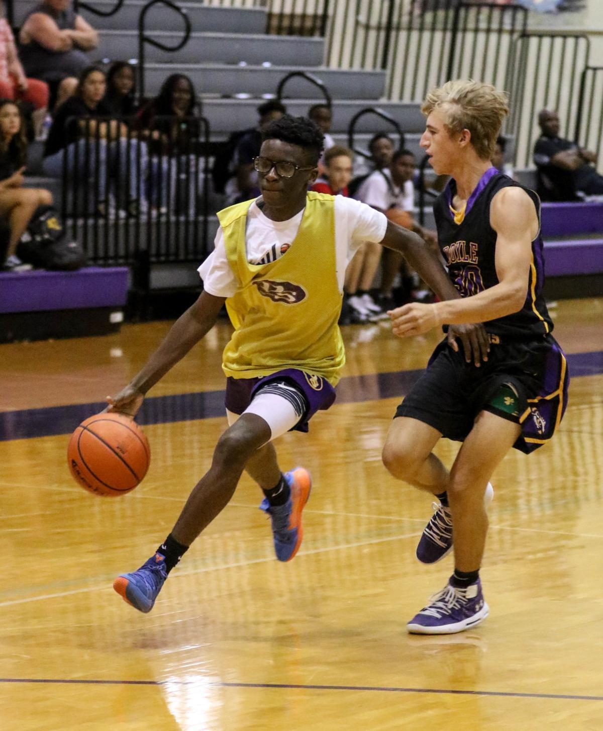 Denham Springs vs Doyle summer basketball: Jordan Reams (4), Cade Watts