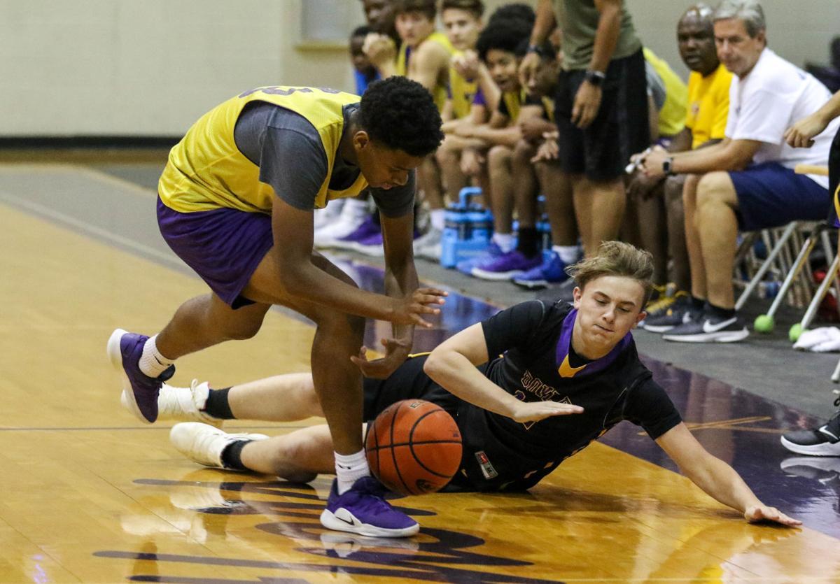 Denham Springs vs. Doye summer baskeball: Kyle Williams (23), Luke Jones (12)