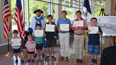 Denham Springs boys get inducted into Sons of the American Revolution chapter