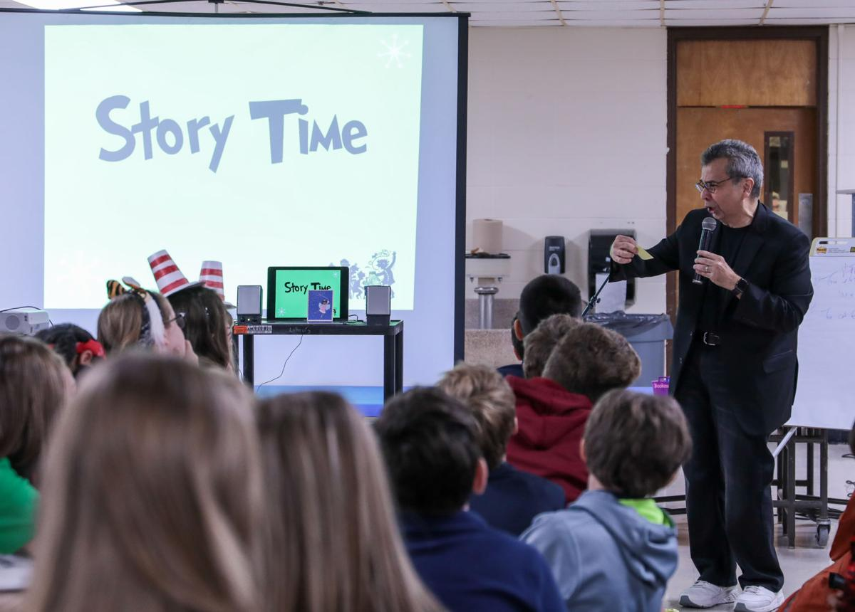 Chris Grabenstein visits Live Oak Middle