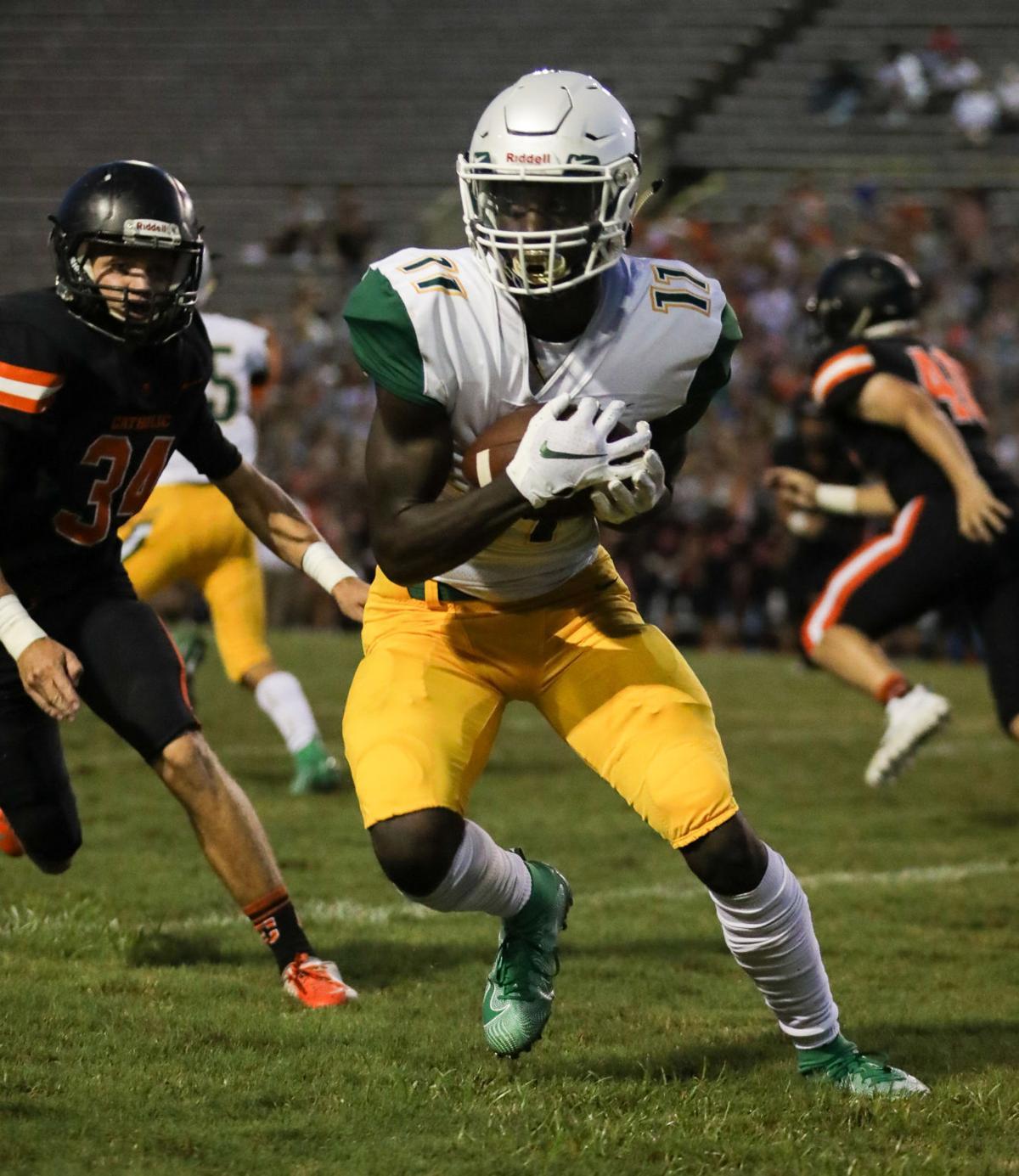 Walker vs. Catholic High football jamboree Brian Thomas