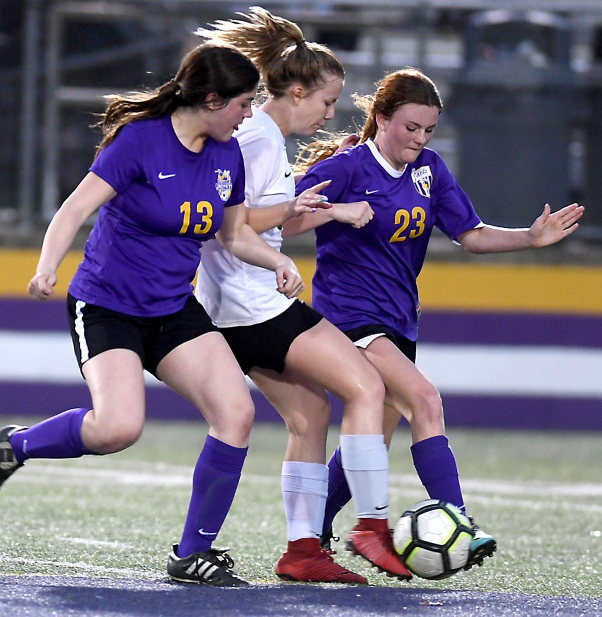 DSHS vs. Walker girls soccer: Brinley Williamson (13), Emily Ellis (23)
