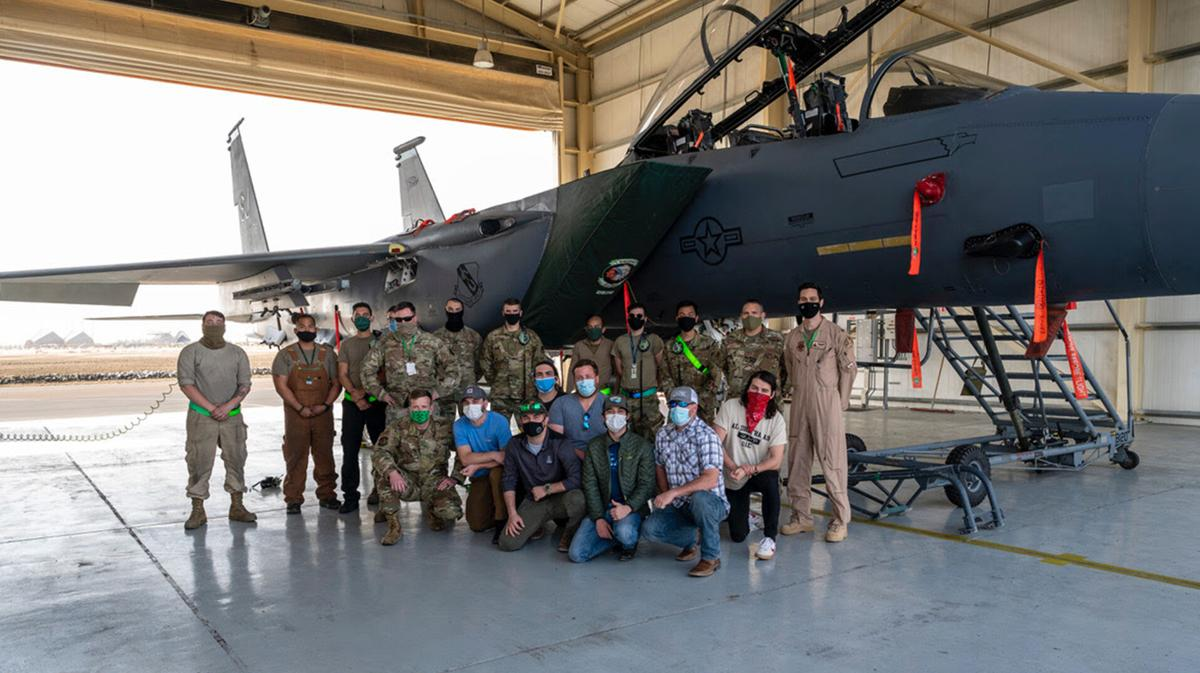 Laine Hardy performs overseas for troops