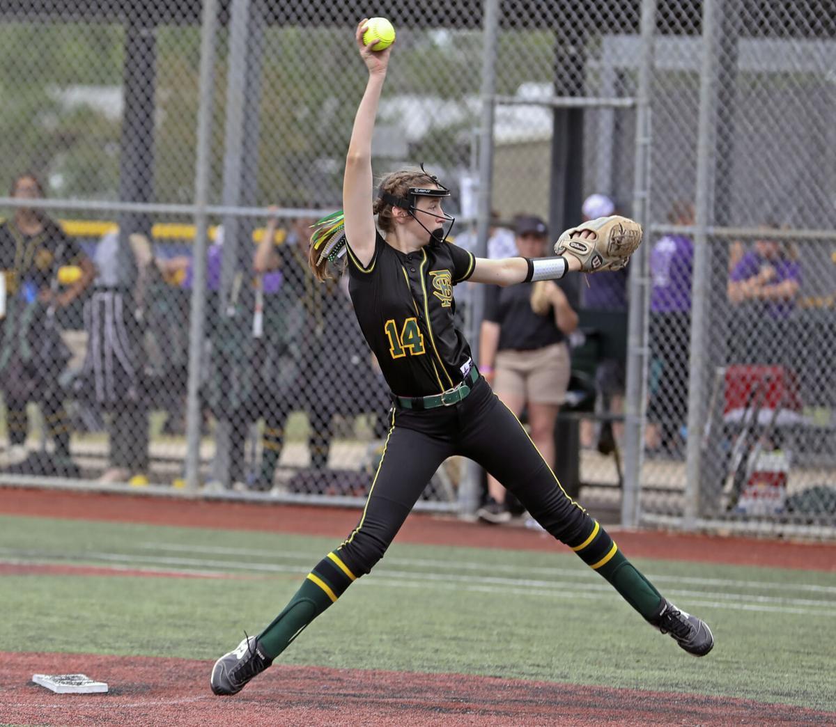 Rosepine vs. Doyle softball semifinal Katie Harper