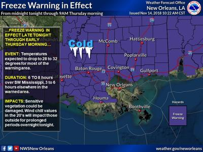 PREPARE FOR A FREEZE | National Weather Service (New Orleans