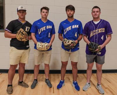 All-Parish Softball 2019 MVP Tyson Stewart, Lane Hutchinson, Sal Palermo, Cade Doughty