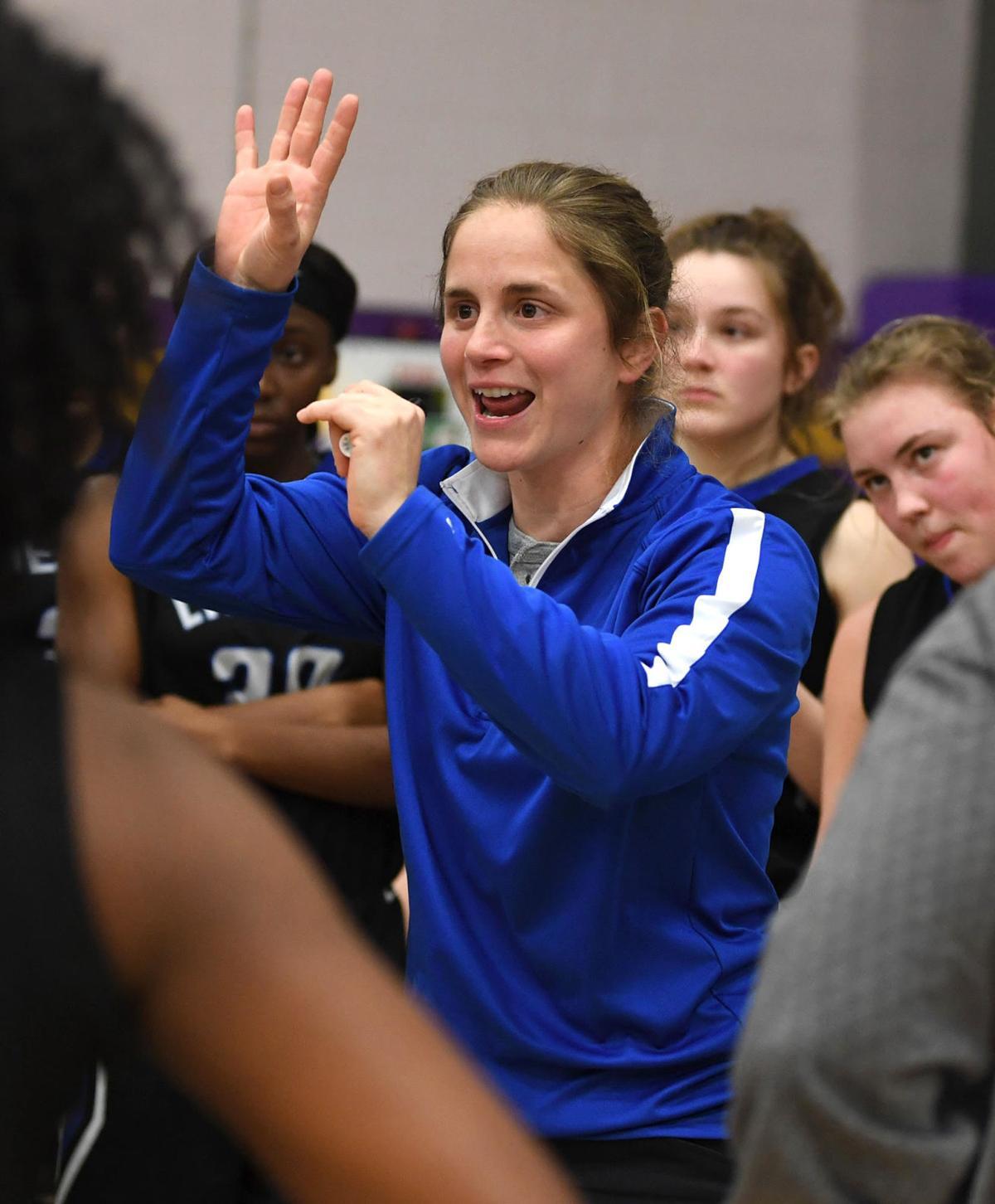 Denham Springs girls basketball vs. Live Oak: Coach Michele Yawn