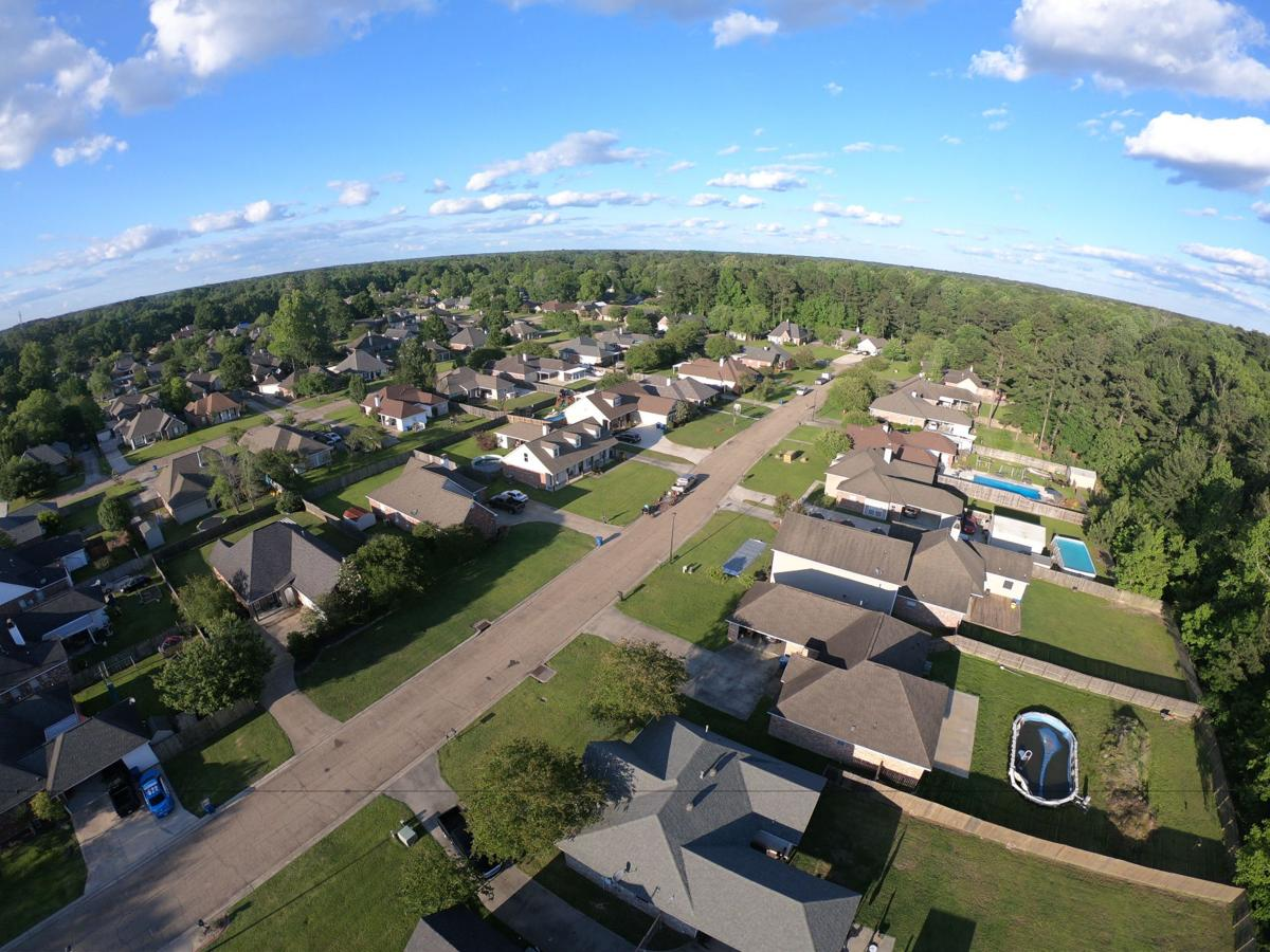 Drone neighborhood shot