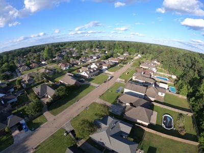 Drone neighborhood shot