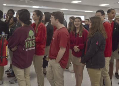 Students in Red