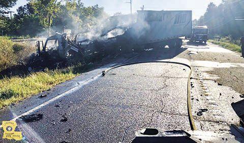 bus crash smoke