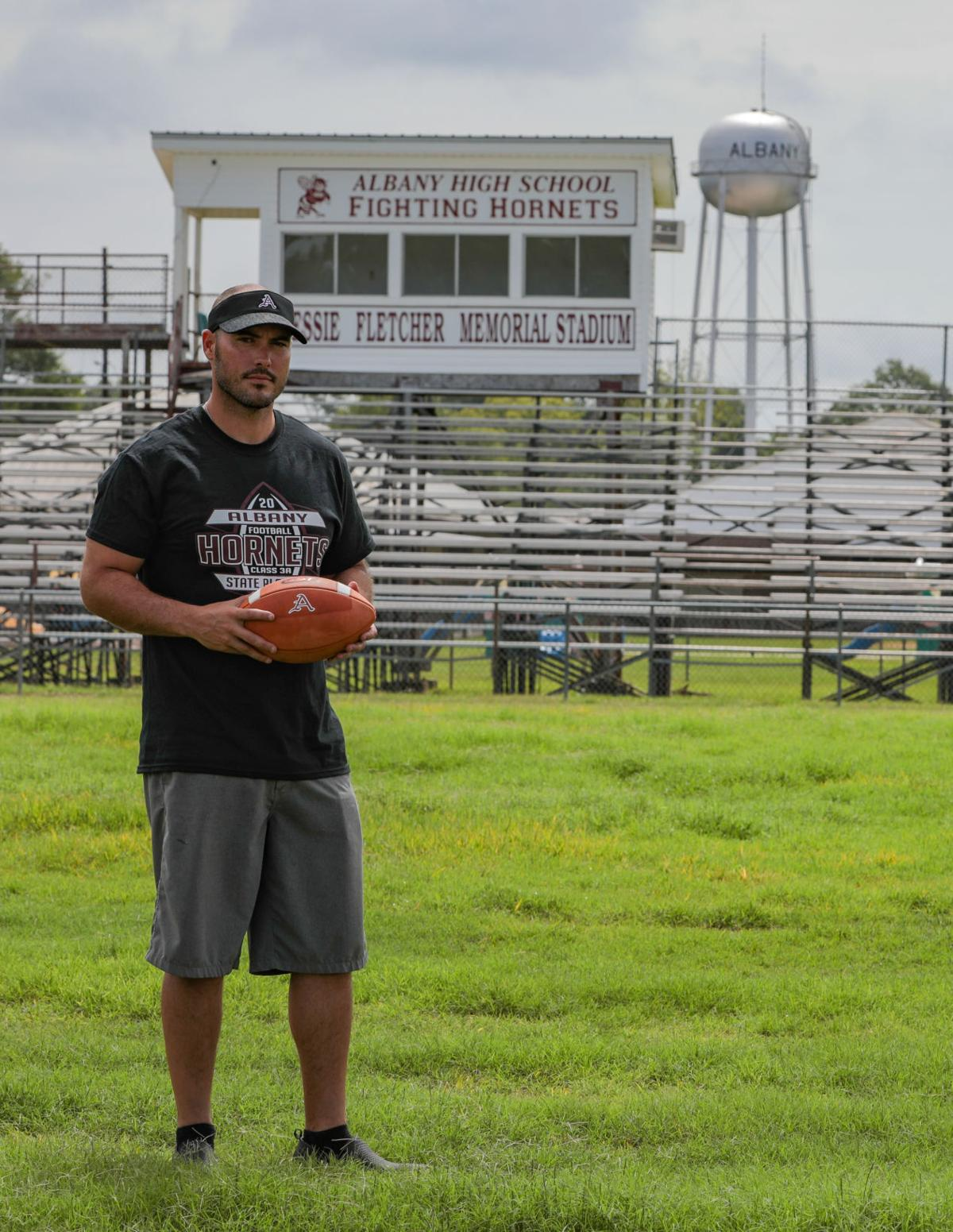New Albany football coach Mike Janis