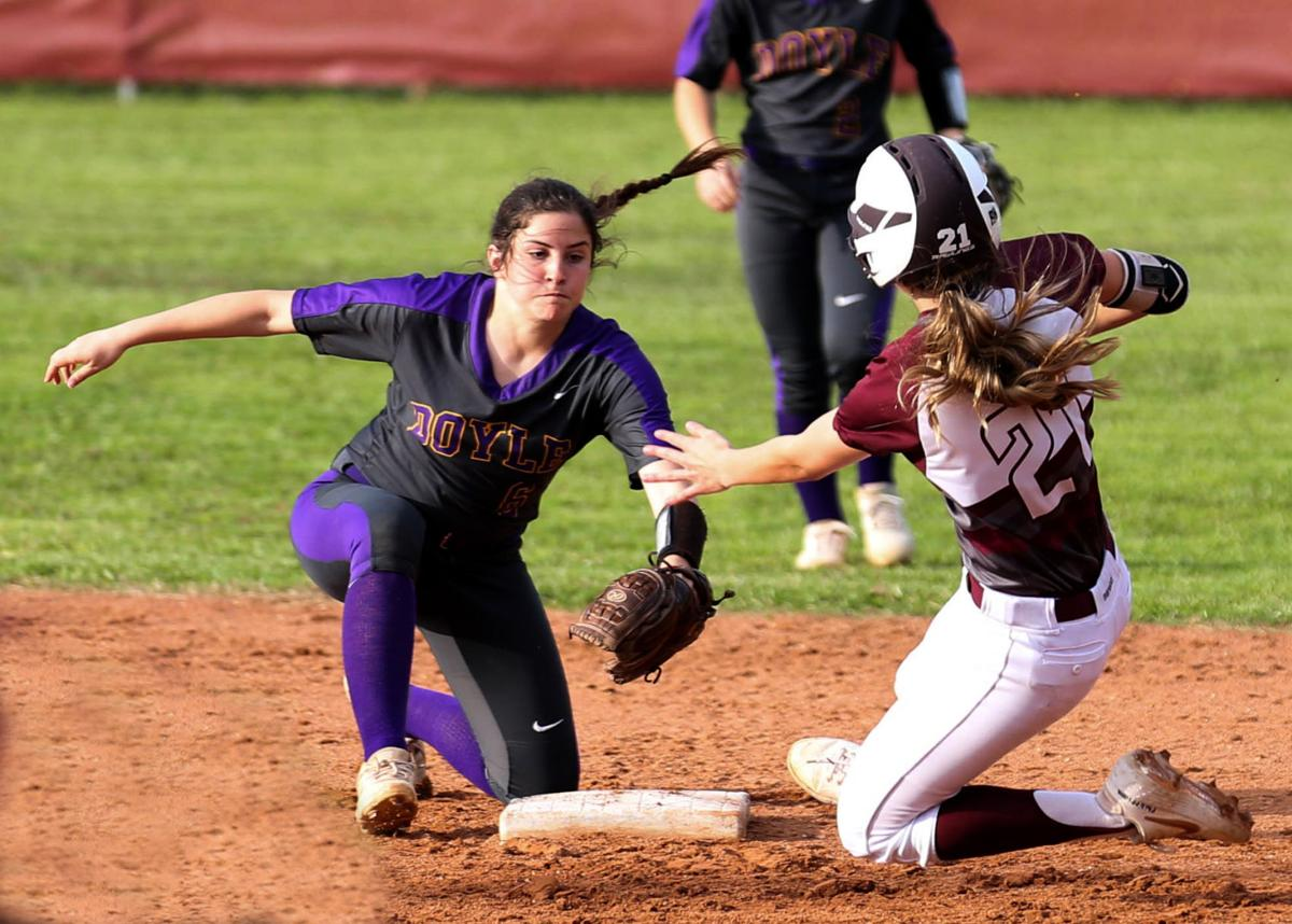 Albany vs Doyle softball Gracie Taylor Camdyn Cooper