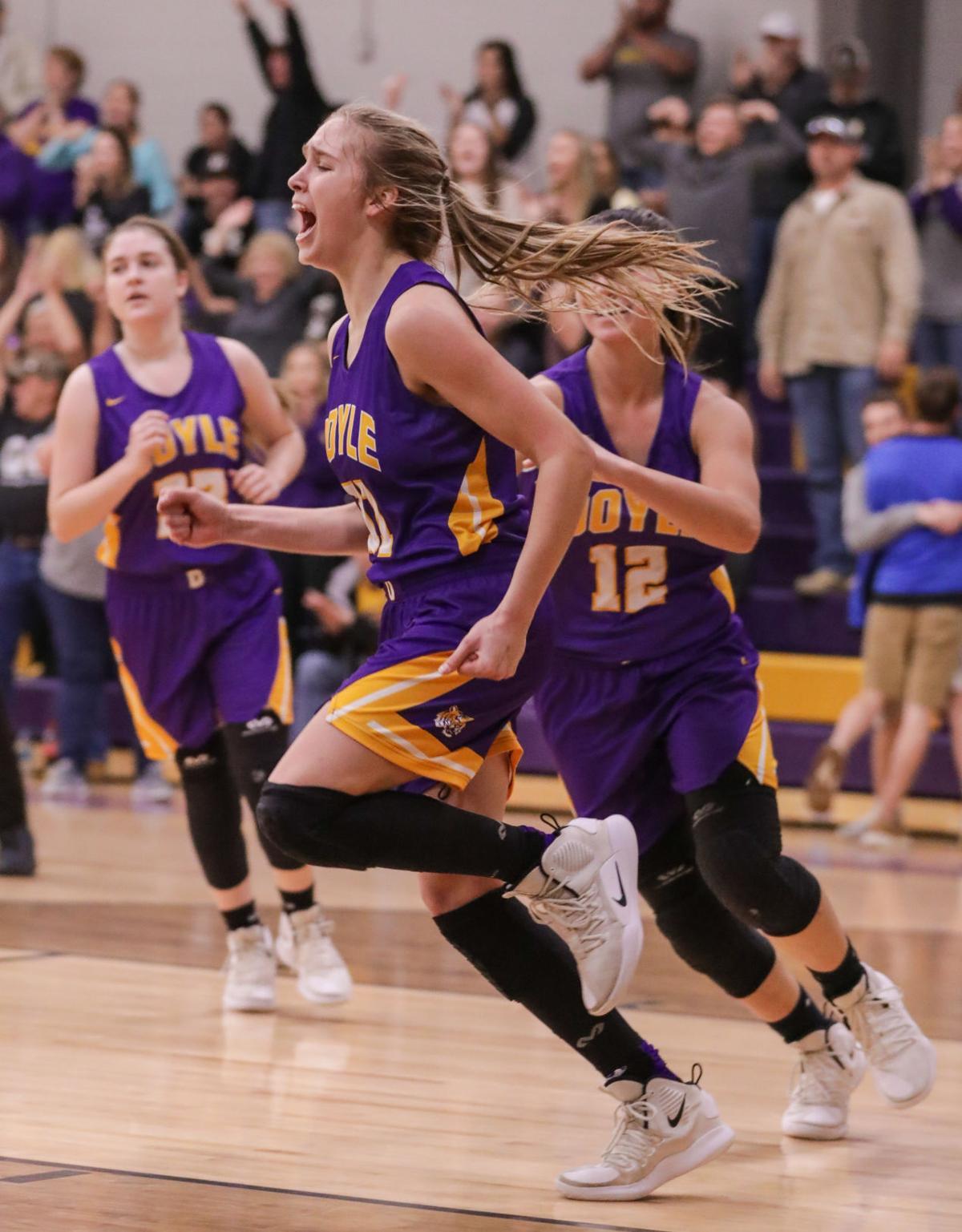 Loranger at Doyle girls basketball Presleigh Scott