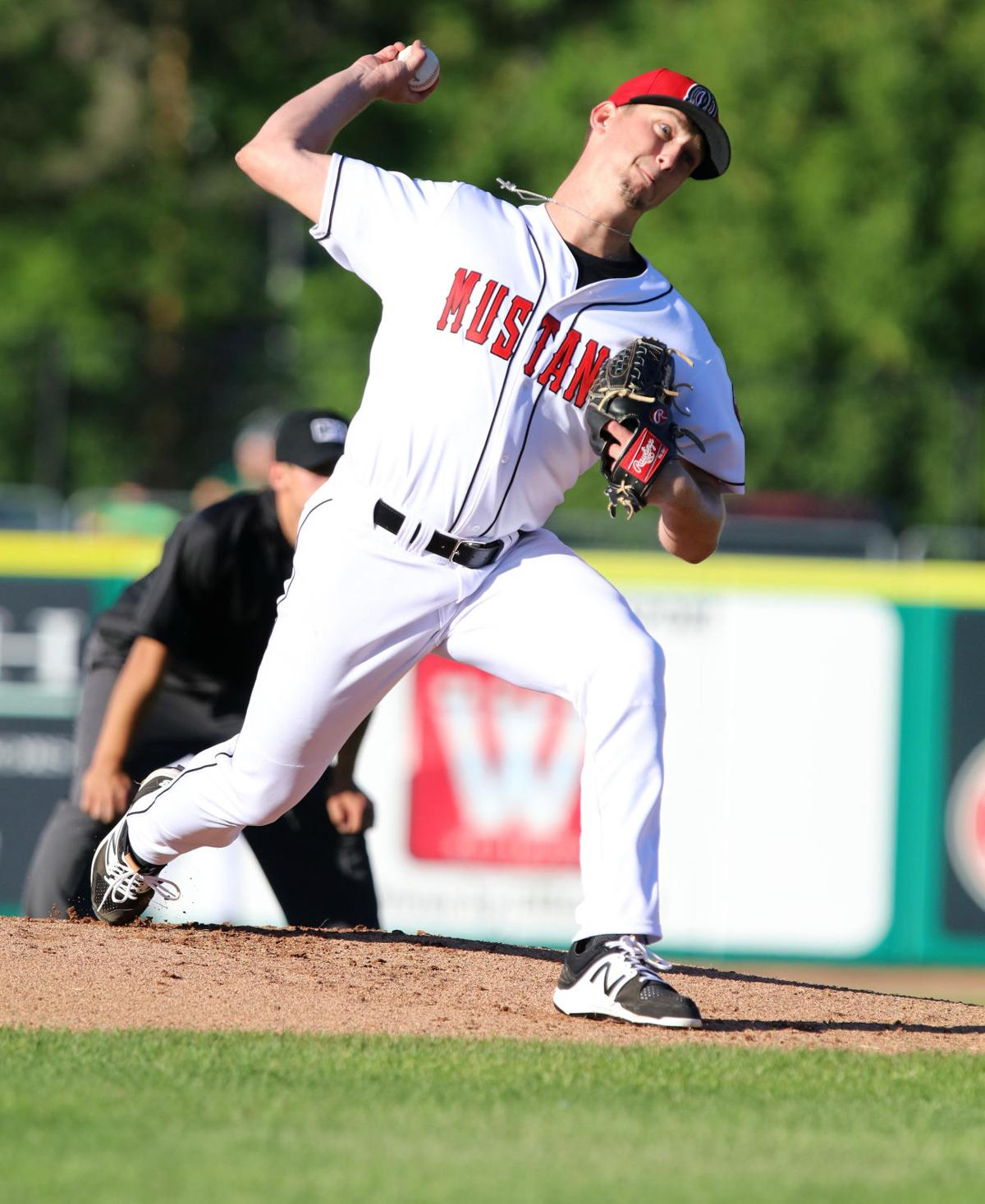 Mac Sceroler pitching for Billings