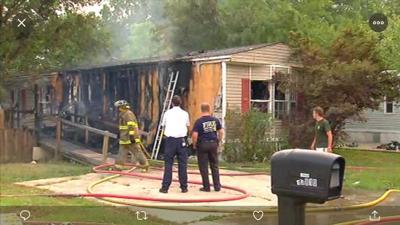 Mobile Home Fire in Walker