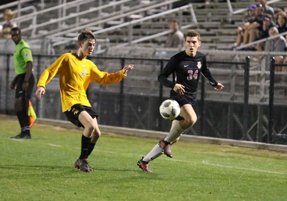 Denham Springs boys soccer vs. St. Amant: Matthew Fuentes (34)