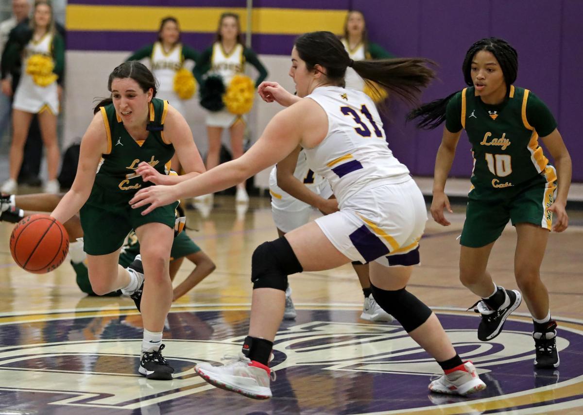 Walker at DSHS girls basketball Delaney Anderson, Libby Thompson