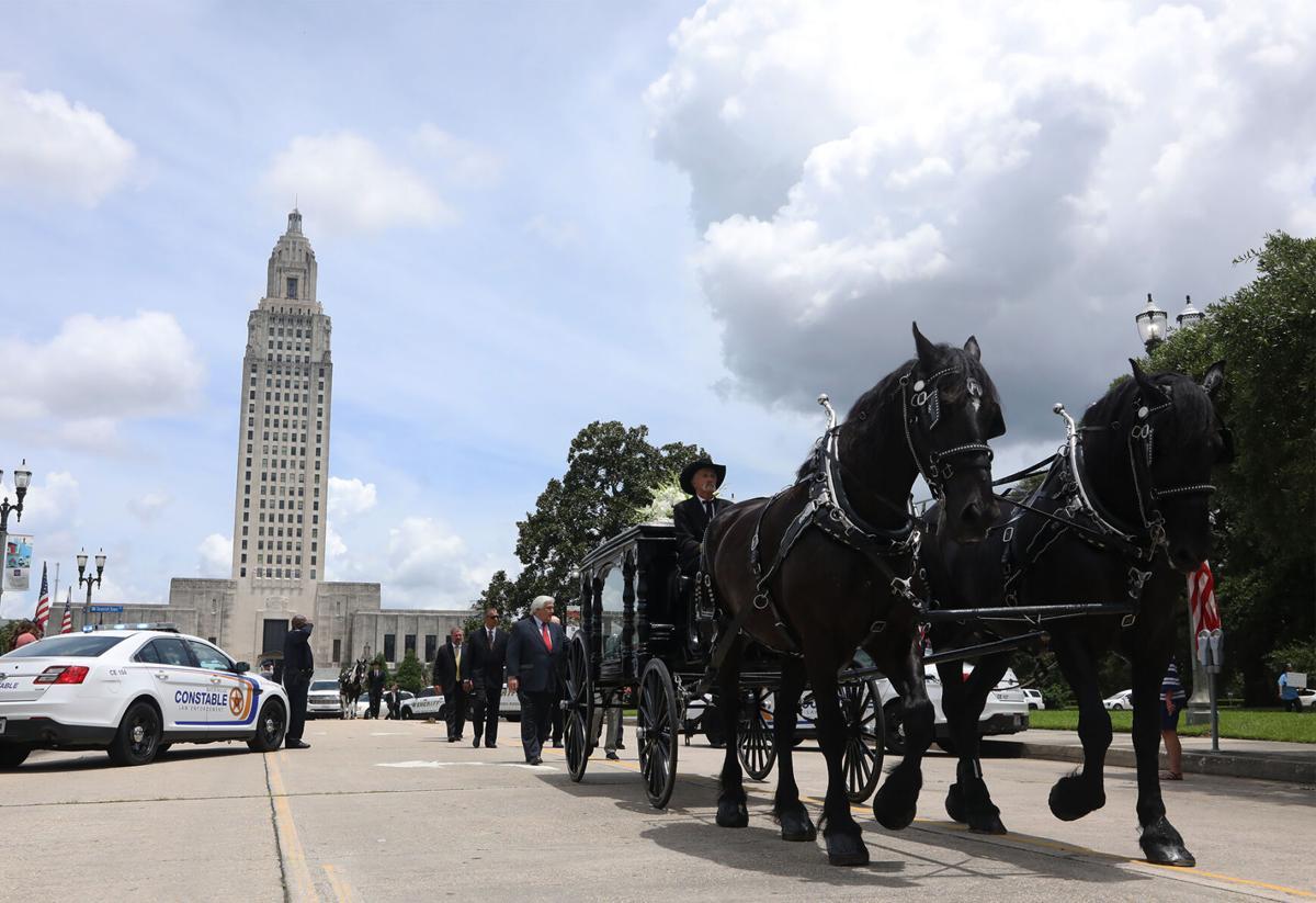 Gov. Edwin Edwards funeral procession