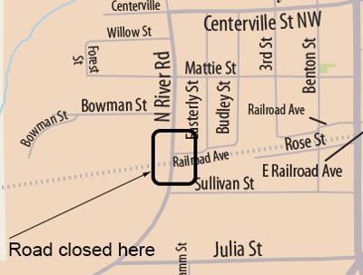 Railroad crossing closed at River Road in Denham Springs