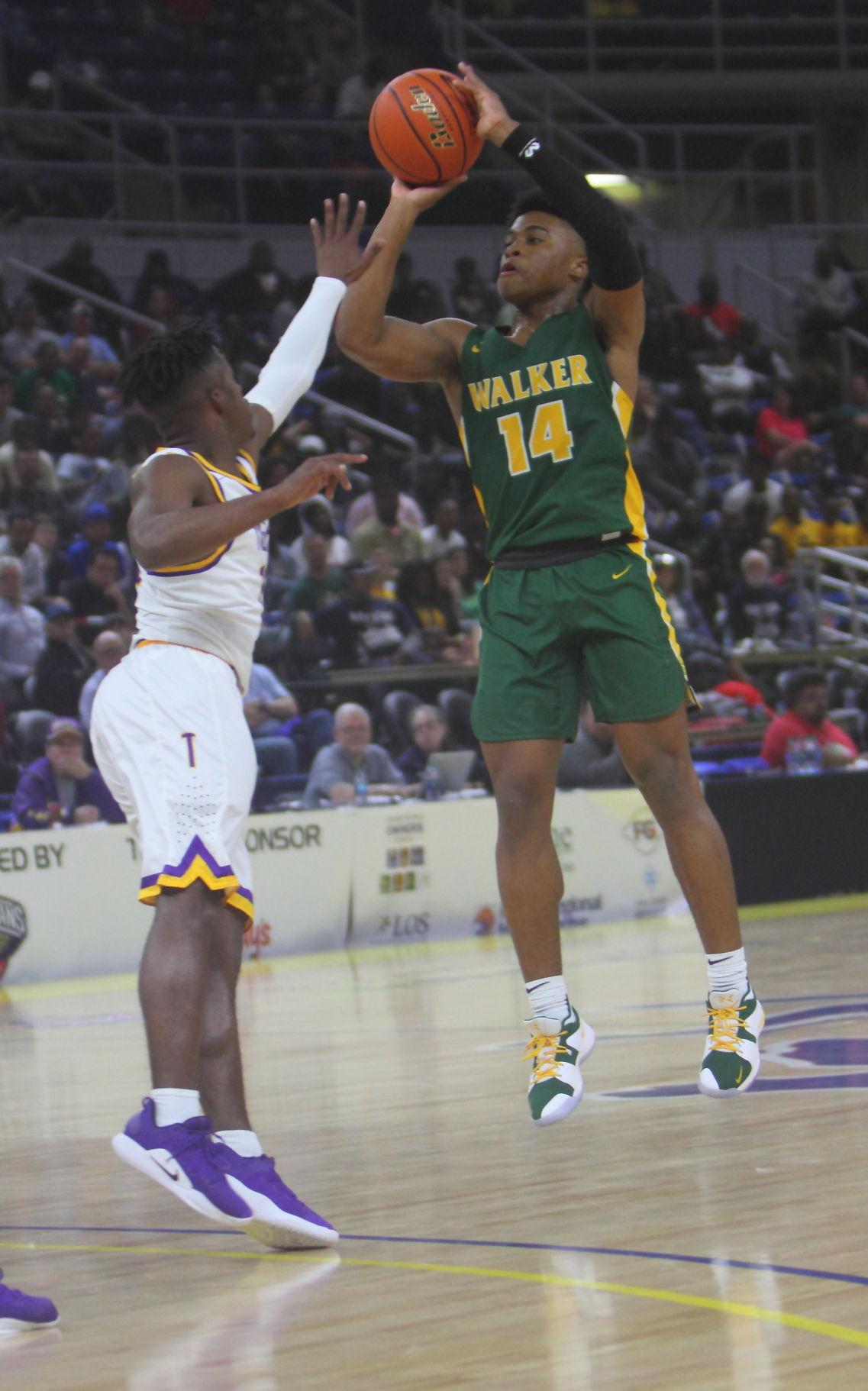 Walker vs Thibodaux boys basketball Jalen Cook