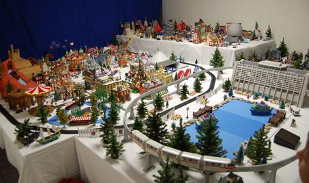 winter wonderland father jasons christmas village also features a miniature walt disney