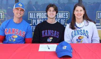 Clayton Simms signs with Kansas University