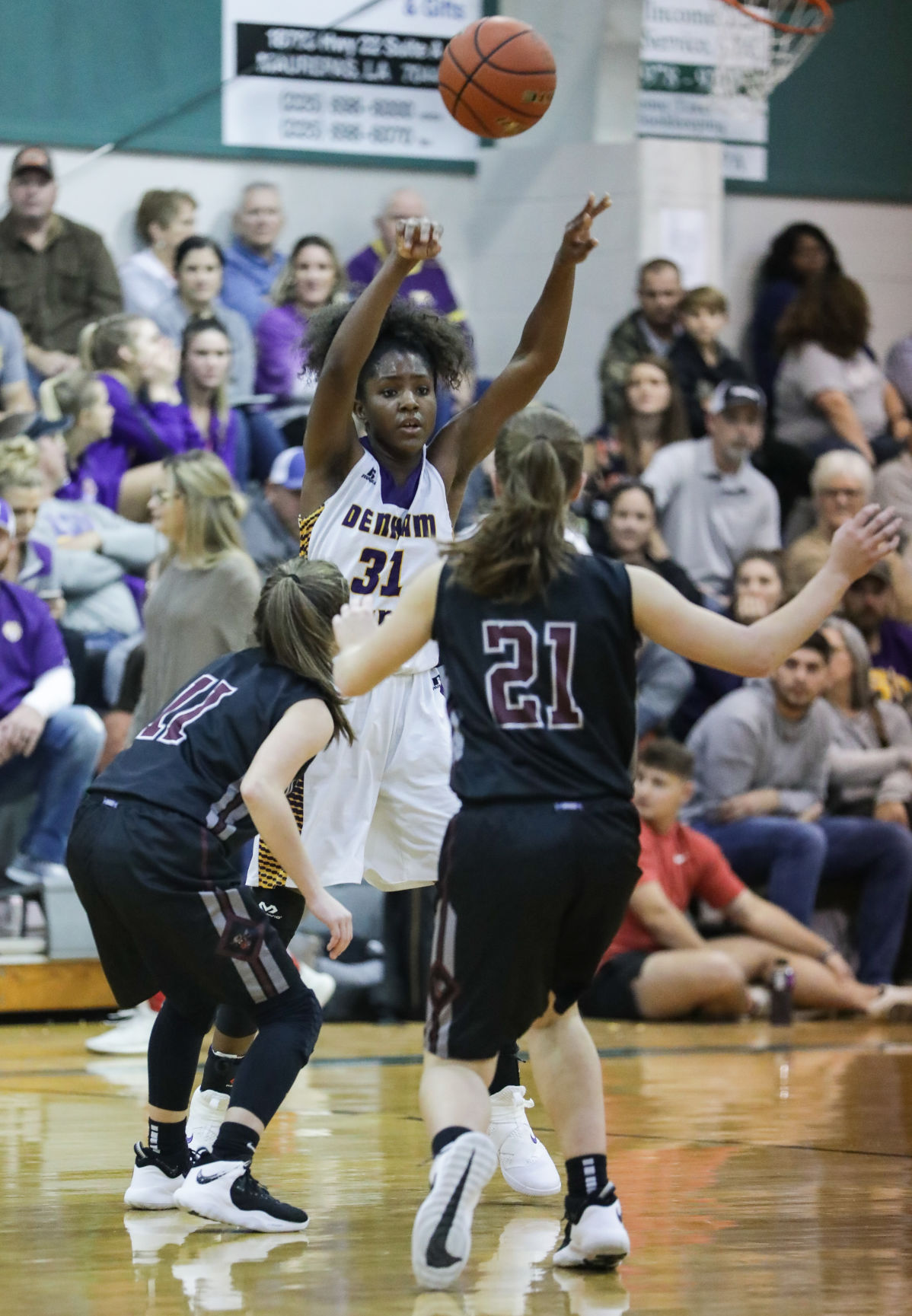 Albany vs Denham Springs girls basketball Alexius Horne Haley Meyers Devyn Hoyt