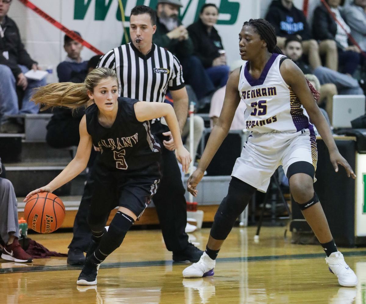Albany vs Denham Springs girls basketball BrookeLynn Saxon Desiree Jones