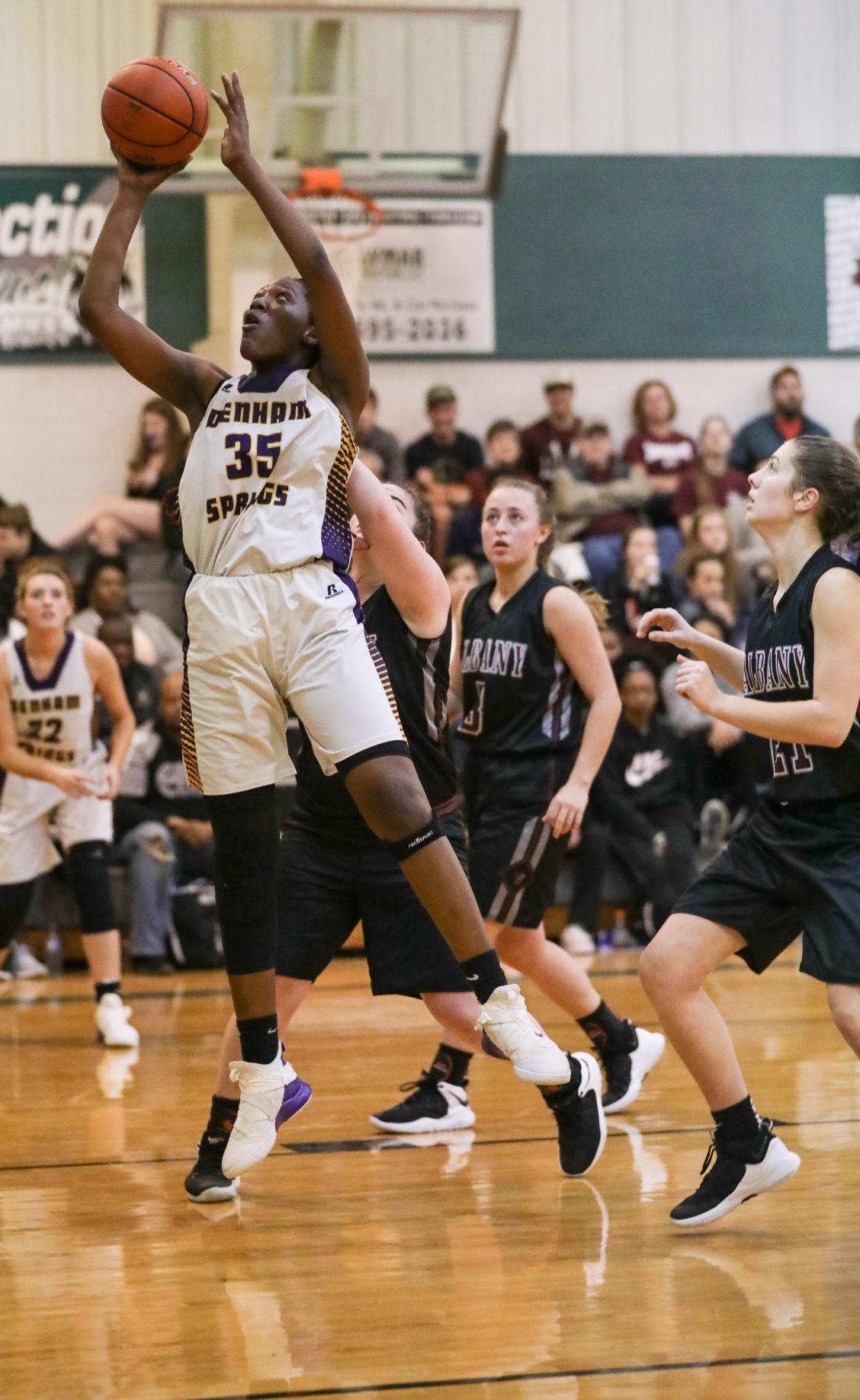 Albany vs Denham Springs girls basketball Desiree Jones
