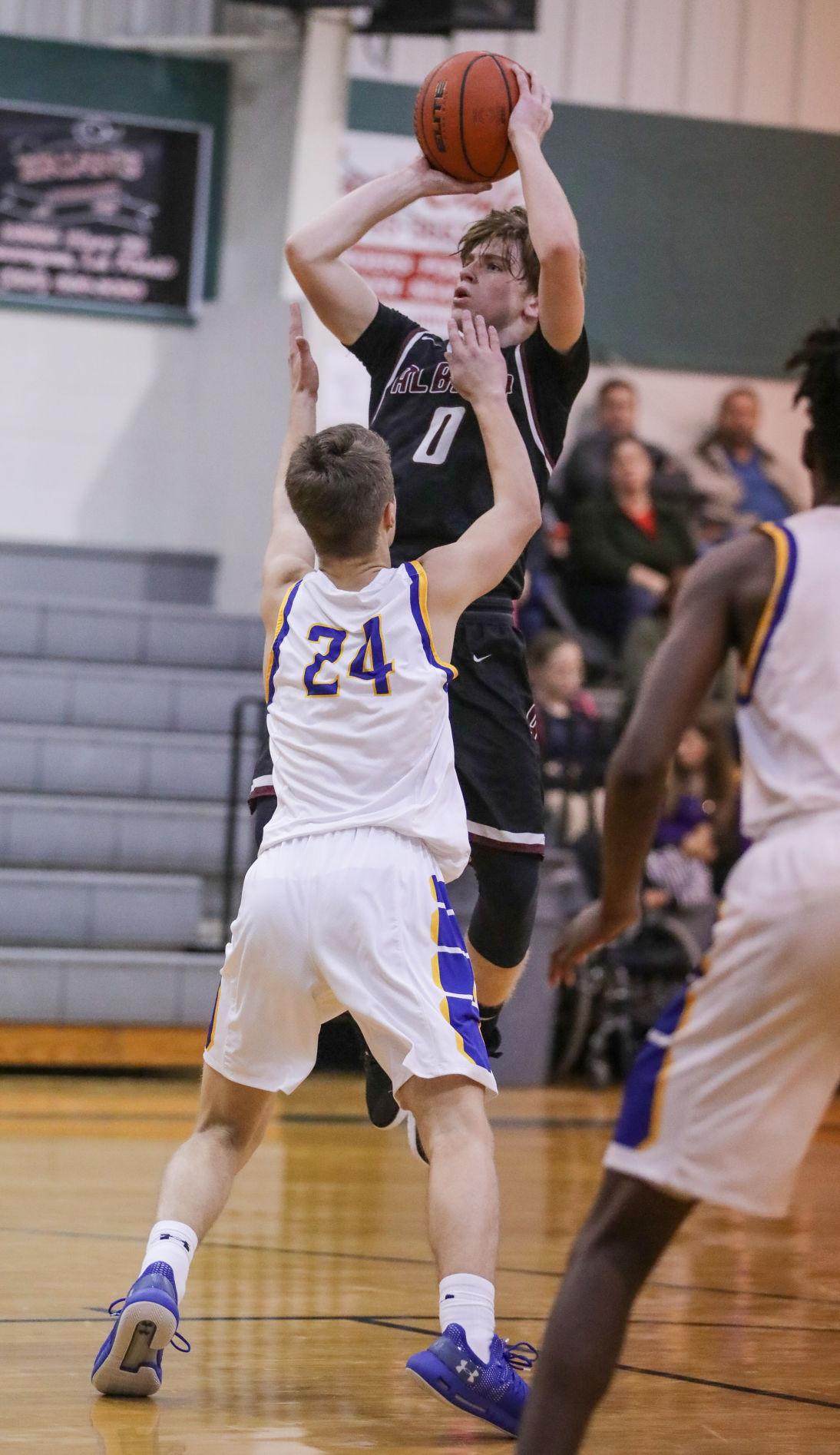 Albany vs Live Oak boys basketball Caleb Puma Halen Cox