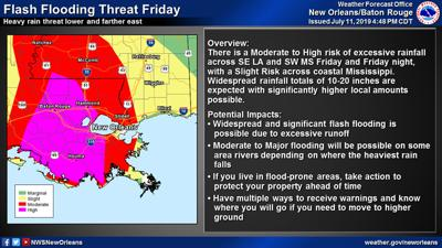 TROPICS UPDATE | Flash flood threat now encompasses all of