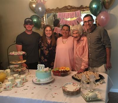 Ollie Chidester Lewis Purvis celebrates 100th birthday