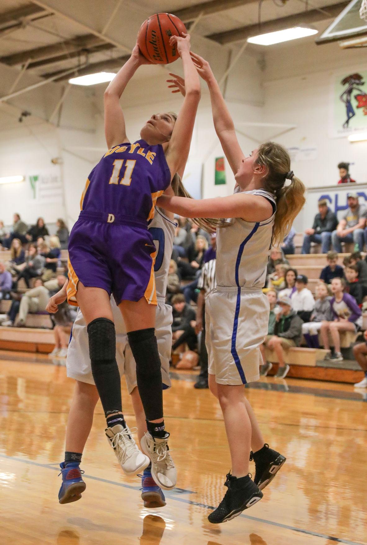 Doyle at Springsfield girls basketball Presleigh Scott Lori Martin