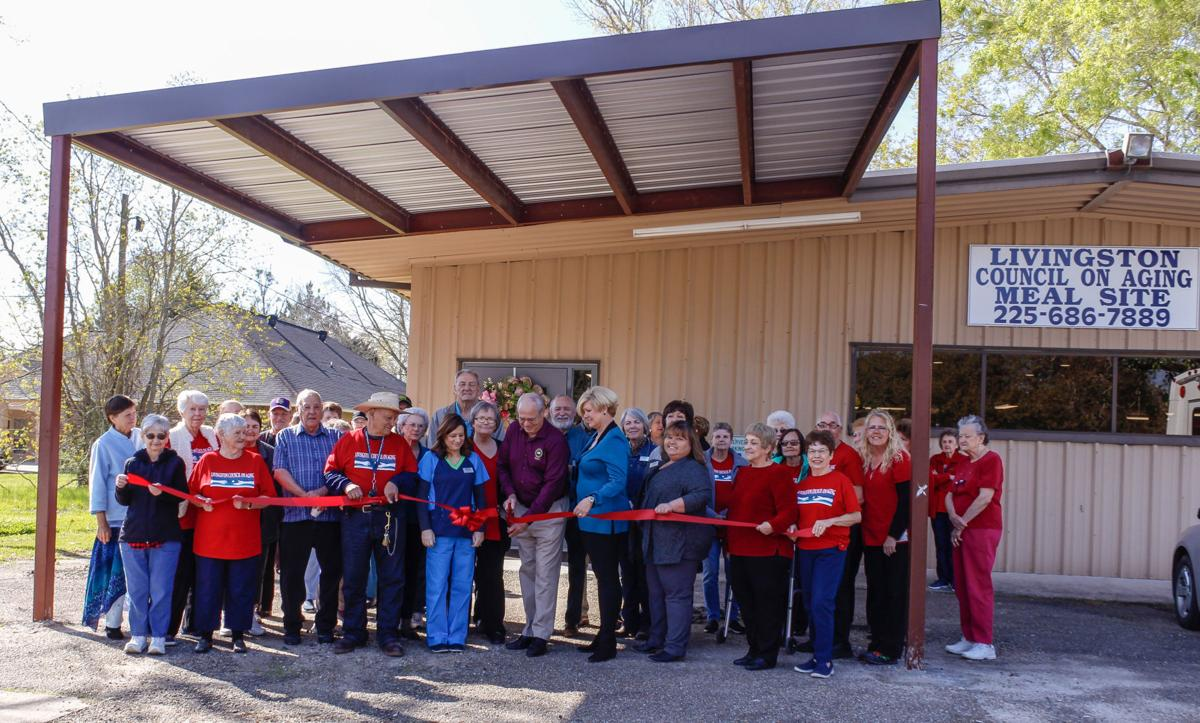 Council on Aging Livingston meal site grand opening ribbon cutting
