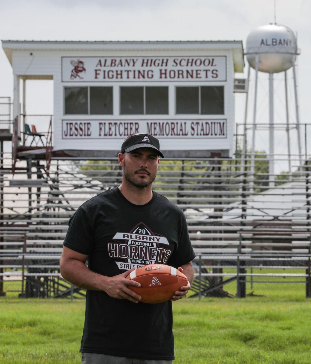 Albany football coach Mike Janis