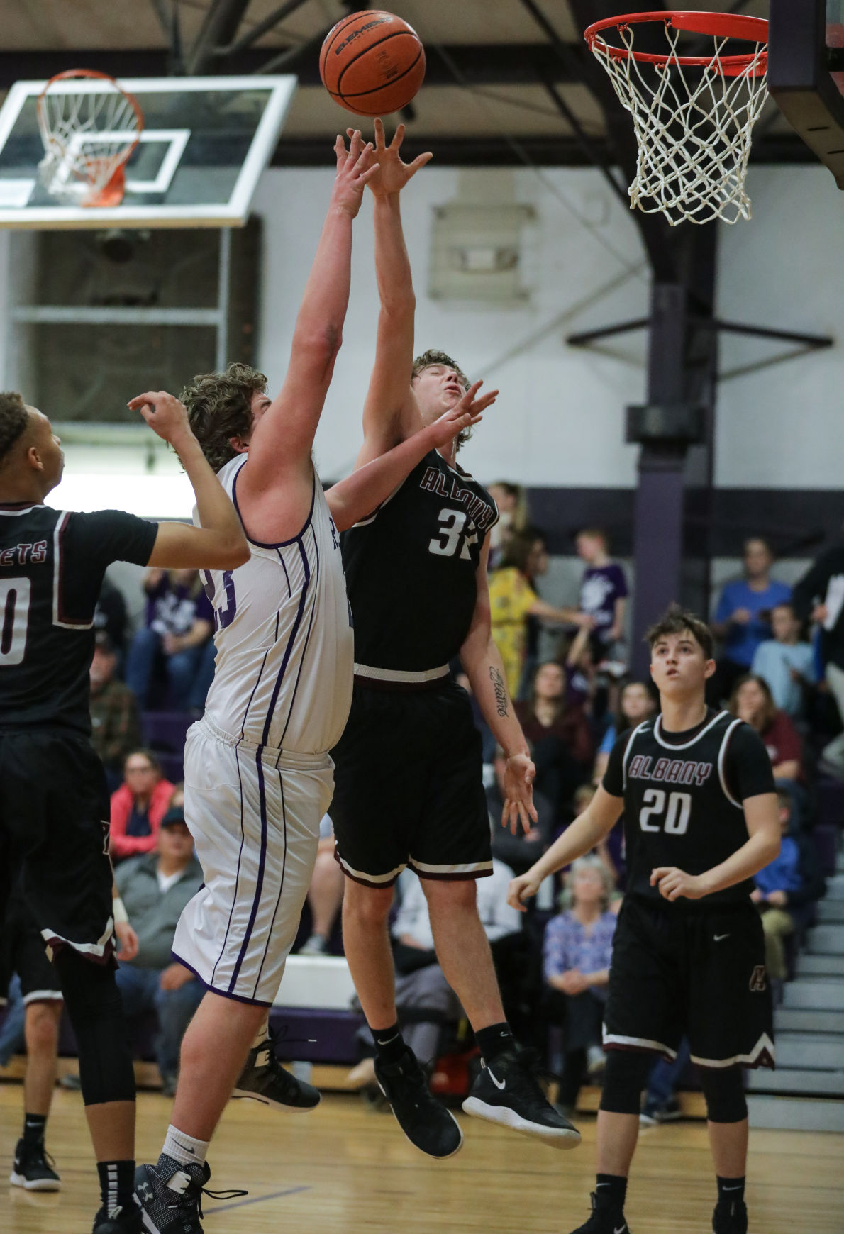 Albany at Holden boys basketball Tyler Quamme Cole Forbes