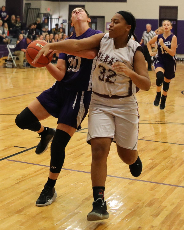 Albany vs. Holden girls basketball - Emma Hutchinson, Mercedes Johnson