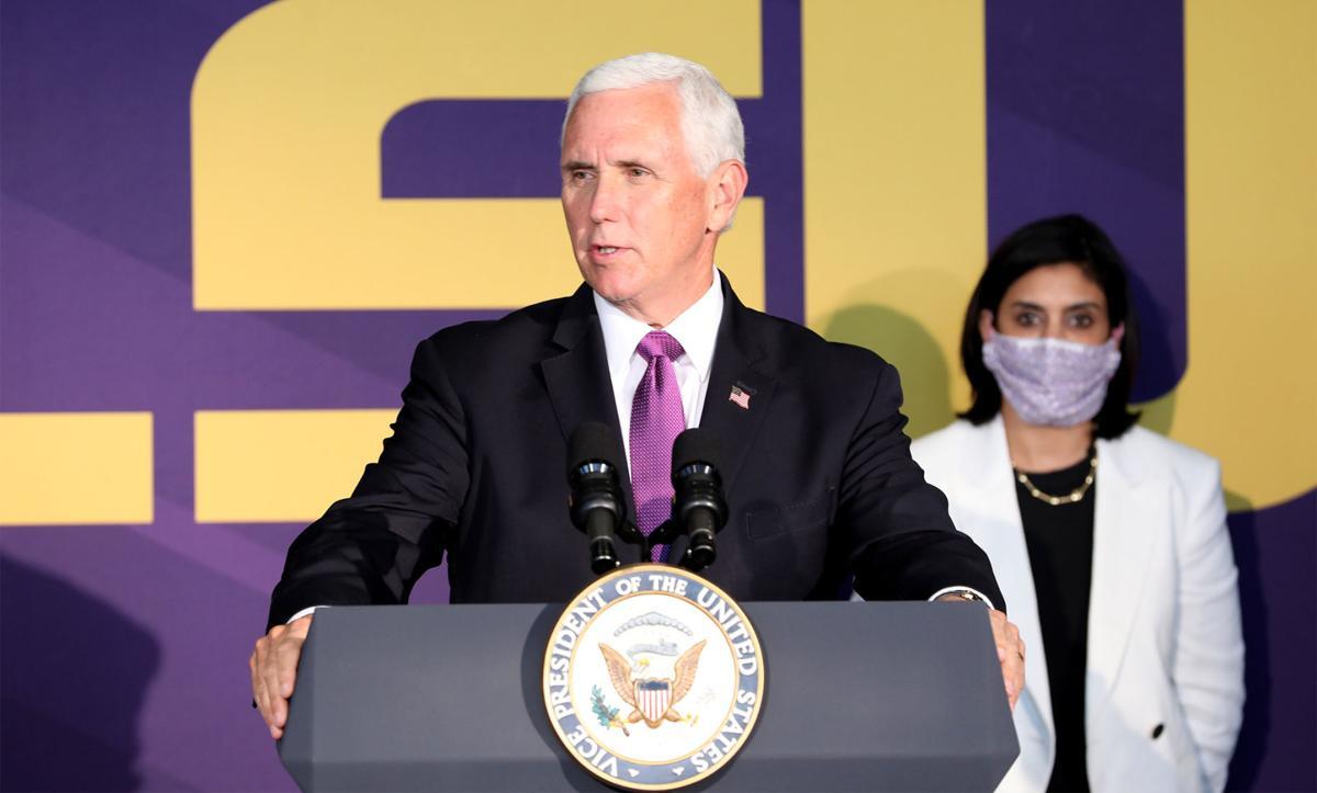 Vice President Mike Pence visits Louisiana