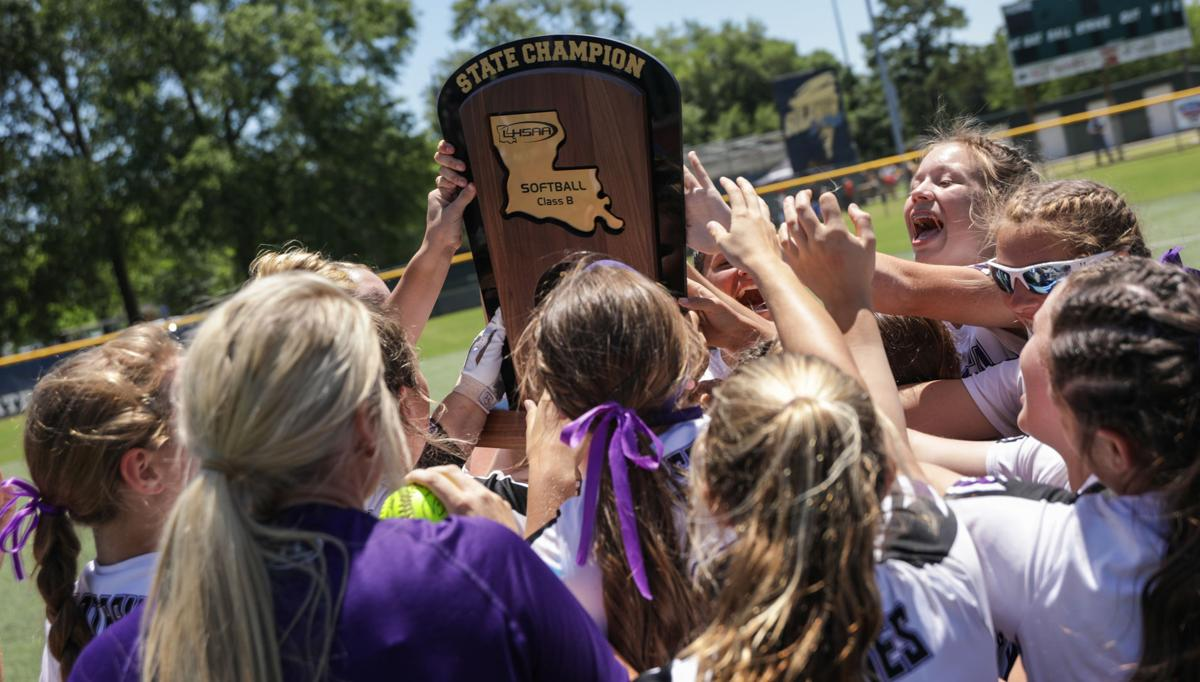 Forest vs. Holden softball state championship trophy
