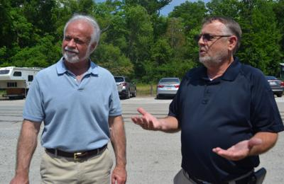 Parish President Layton Ricks and Mark Harrell (arbitration)