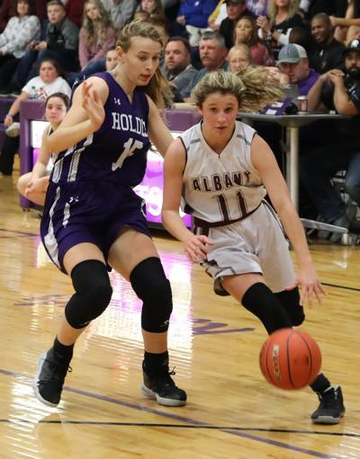 Albany vs. Holden girls basketball - Haley Meyers, Emmaleigh Bertrand