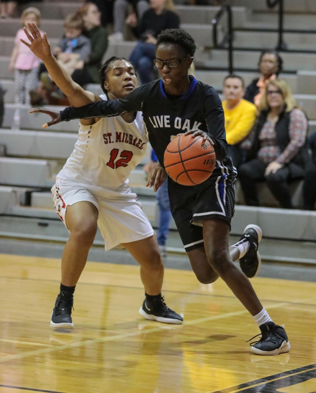 Live Oak at St. Michael girls basketball Harmony Johnson Carlette Dunn