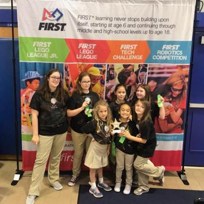 Go Rockets team wins Artistic Eye Award at FIRST® LEGO® League state expo