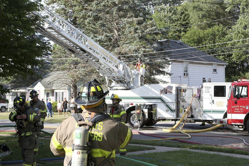 House fire in Newfane