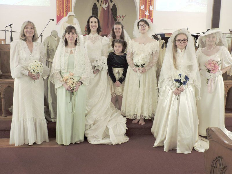 Vintage Wedding Gowns On Display At Ladies Spring Luncheon